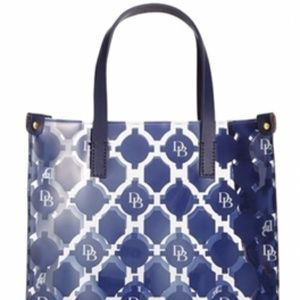 Dooney & Bourke Blue White Lunch Bag Acrylic Tote